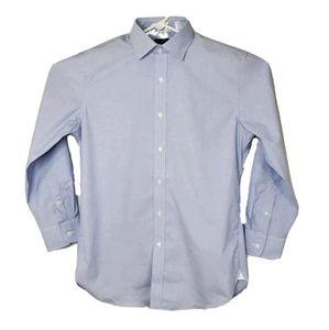 J. Crew Ludlow Mens L Blue Slim Fit Dress Shirt
